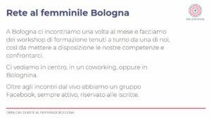 cos'è la Rete al Femminile di Bologna